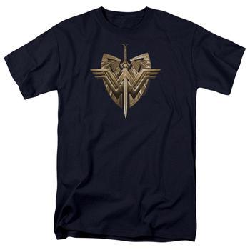 Wonder Woman Movie Sword & Emblem Adult Navy T-Shirt from Warner Bros.