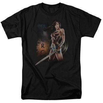 Wonder Woman Movie Fierce Adult Black T-Shirt from Warner Bros.