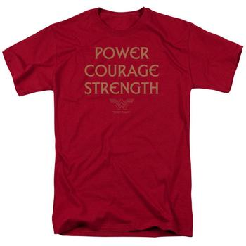 Wonder Woman Movie Power Courage Strength Red T-Shirt from Warner Bros.