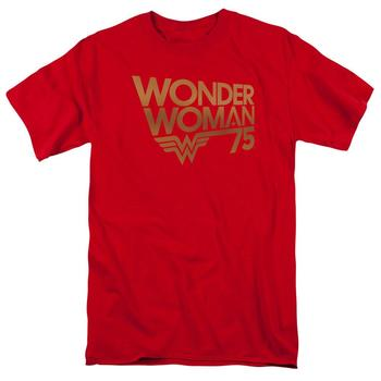 Wonder Woman 75Th Anniversary Logo Red Adult T-Shirt from Warner Bros.
