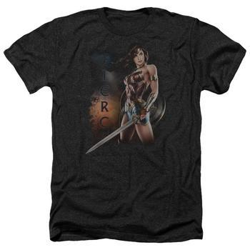 Wonder Woman Movie Fierce Adult Heather Black T-Shirt from Warner Bros.