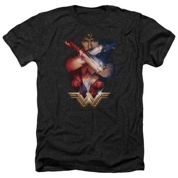 Wonder Woman Movie Power Adult Heather Black T-Shirt from Warner Bros.