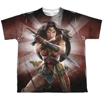 Wonder Woman Movie Protector Of Humanity Youth Sublimated T-Shirt from Warner Bros.