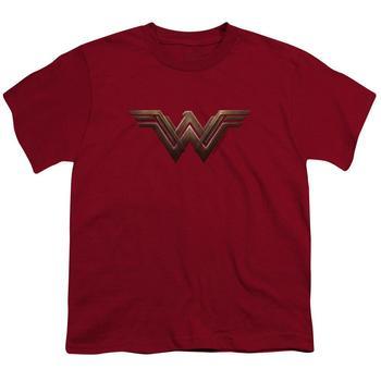 Wonder Woman Movie Logo Youth Cardinal T-Shirt from Warner Bros.