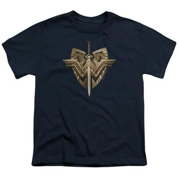 Wonder Woman Movie Sword & Emblem Youth Navy T-Shirt from Warner Bros.