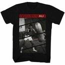 Muhammad Ali Punching Bag Mens Black T-Shirt