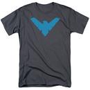 Batman Nightwing Symbol Gray T-Shirt