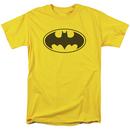 Batman Logo Yellow Men's Tshirt