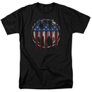 Batman Bleeding American Flag Bat Symbol Tshirt