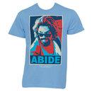 The Big Lebowski Red Blue Abide Light Blue Graphic Tee Shirt