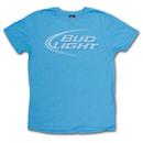 Bud Light Junk Food Faded Design Heather Blue Graphic TShirt