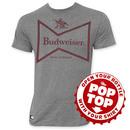 Budweiser Pop Top Bottle Opener Retro Bow Tie Logo T-Shirt
