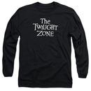 Twilight Zone Logo Black Long Sleeve T-Shirt