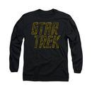 Star Trek Distressed Logo Black Long Sleeve T-Shirt