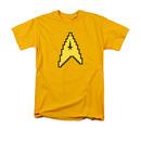 Star Trek TOS 8-Bit Command Symbol Yellow T-Shirt