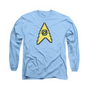 Star Trek TOS 8 Bit Science Blue Long Sleeve T-Shirt