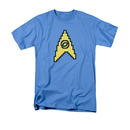 Star Trek TOS 8-Bit Science Symbol Blue T-Shirt