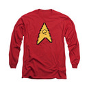 Star Trek TOS Engineering 8-Bit Red Long Sleeve T-Shirt