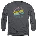Beverly Hills 90210 Color Blend Logo Gray Long Sleeve T-Shirt