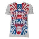 Men's Captain America Opposing Forces Cotton Blend Grey T-Shirt