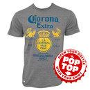 Corona Extra Label Pop Top Bottle Opener Tee Shirt