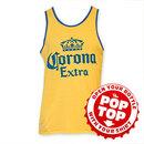 Corona Extra Men's Yellow Pop Top Bottle Opener Tank Top