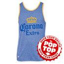 Corona Extra Men's Blue Pop Top Bottle Opener Tank Top