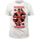 Deadpool Men's White Wildcard Tee Shirt