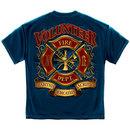 Volunteer Fire Department Tee Blue