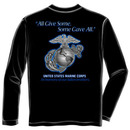 US Marine Corps Gave All USA Black Long Sleeve Tee Shirt