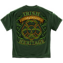 Firefighter Irish Heritage St. Patrick's Day Green Tee Shirt