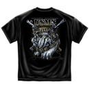 Marine Corps Never Retreat USA Patriotic Black Graphic Tee Shirt