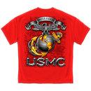 USMC Globe Tee Red