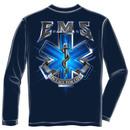 EMS On Call For Life USA Navy Long Sleeve Tee Shirt