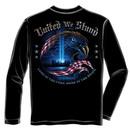 United We Stand 9/11 USA Black Long Sleeve Tee Shirt