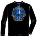 Heroes Of 9/11 USA Patriotic Black Long Sleeve Graphic Tee Shirt