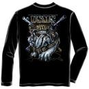 US Marine Corps Bulldog USA Black Long Sleeve Tee Shirt