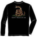 Don't Tread On Me USA Patriotic Black Long Sleeve Graphic T Shirt
