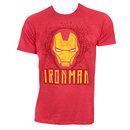 Iron Man Face Logo Red Tshirt