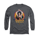 Wonder Woman Powerful Gray Long Sleeve T-Shirt