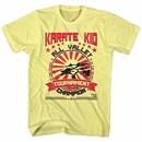 Karate Kid Balanced Champion Mens Yellow T-Shirt