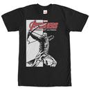 Avengers Hawkeye Pointed Arrow Black T-Shirt