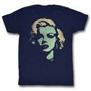 Marilyn Monroe Feeling Green Mens Blue T-Shirt