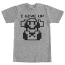 Nintendo Mario I Give Up Gray T-Shirt