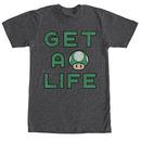 Nintendo Mario Get A Life Gray T-Shirt