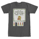 Nintendo Legend Of Zelda Dangerous Gray T-Shirt