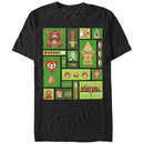 Nintendo Pixel Collage Black T-Shirt
