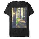 Nintendo Legend of Zelda Forest Link Black T-Shirt