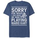 Nintendo Playing Mariokart Blue T-Shirt