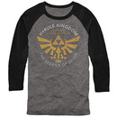 Nintendo Legend of Zelda Running Gray Long Sleeve T-Shirt